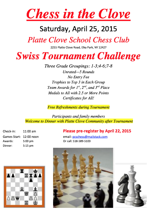 Plate Clove Chess Tournament Flyer